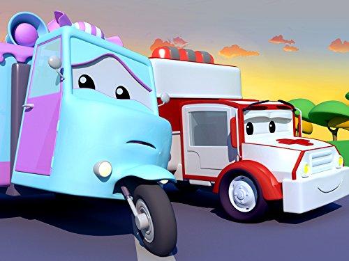 Carrie das Süßigkeitenauto hat einen Splitter im Reifen / Klein Jerry das Rennauto hat eine Felge gebrochen / Klein Frank das Feuerwehrauto hat eine Murmel verschluckt