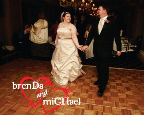 Personalized Wedding Reception Dance Floor Decals Sticker