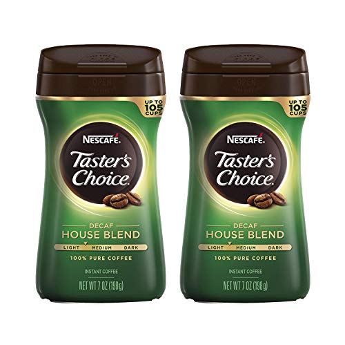 Nescafe Taster's Choice Decaf House Blend Instant Coffee, 7 oz (Pack of 2)