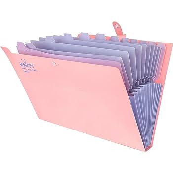 File Folder Sacco Documenti A 13 Strati Fisarmonica Classificazione A4 Documenti Di Prova File Espandibili Aziendali Archiviazione Office School Supplies-Pink