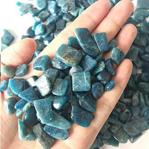 WOHAO Tragbare Schreibblock 100g natürliche Blaue Kyanite Quartz Crystal Rock Chip Heilung Chakra Reiki Gravel Steine Mineralien Specimen Dekoration C (Color : 100g 10-15mm, Size : -)