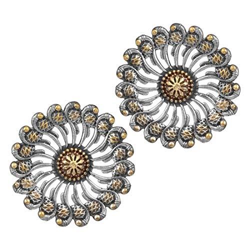 Aheli Antique Bohemian Indian Oxidized Bangle Set Ethnic Traditional Bollywood Fashion Jewelry for Women Girls