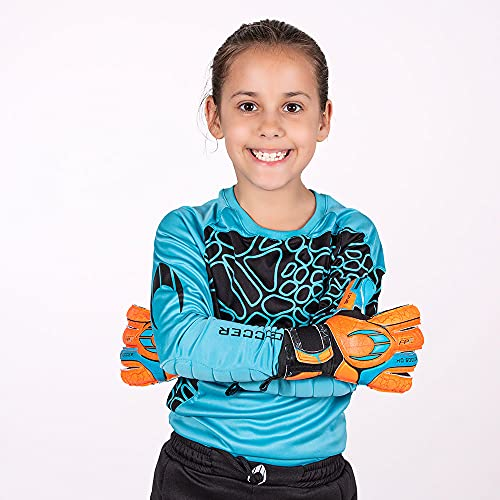 HO Soccer Jersey Furious Camiseta De Portero, Unisex niños, Azul/Negro, 14