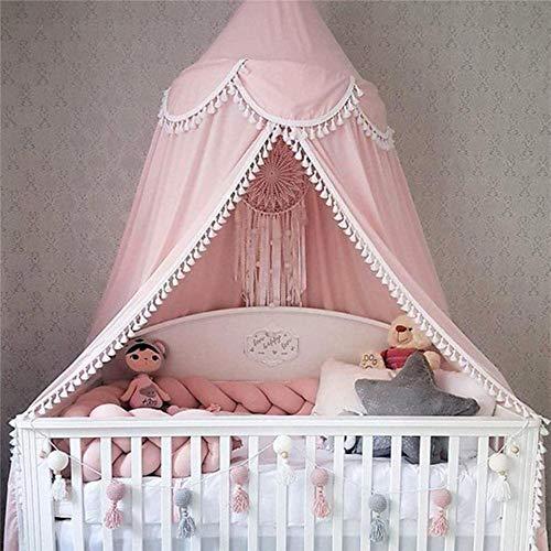 Piner Babybed Luifel Bedovertrek Klamboe Gordijn Beddengoed Koepeltent Kamerdecor, roze