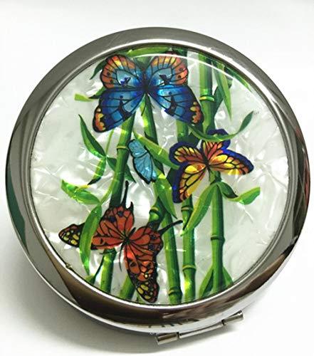 Ningc Belle Paon Loupe en Métal Portable Maquillage Miroir De Mode Femmes Fleur Portable Papillon Conception Mini Miroirs Fille Cadeau