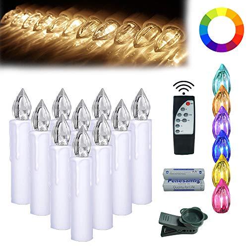 MCTECH 30er LED Kerzen, Kerzenlichter Flammenlose Luminicious mit Fernbedienung, timerfunktion und Batterien für Weihnachtsbaum, Weihnachtsdeko, Hochzeit, Geburtstags, Party
