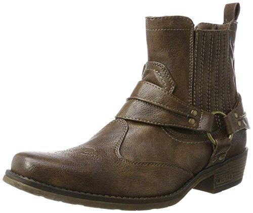 MUSTANG Herren Western Stiefelette Cowboystiefel, Braun (Braun 3), 43 EU