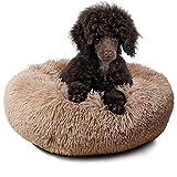 Cama relajante para perros pequeños cachorros gatitos y gatos mullidos ortopédicos antiansiedad con manta para perros adjunta
