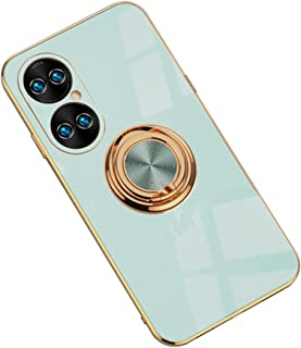 Hicaseer Case for Huawei P50,Ultra-Thin Ring Shockproof Flexible TPU Phone Case with Magnetic Car Mount Resist Durable Cas...