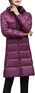Macondoo Women Solid Quilted Outwear Puffer Hoodie Cotton-Padded Down Jacket