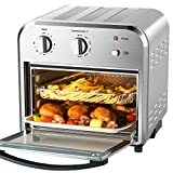 Geek Chef Convection Air Fryer Oven, 4 Slice Toaster Airfryer Countertop Oven, Roast, Bake, Broil,Reheat,Fry Oil-Free, Accessories & Recipes Included