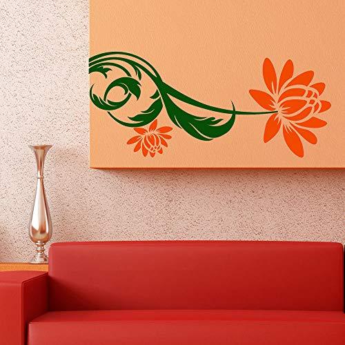 stickers muraux miroir pas cher Bloomer orange pour la chambre des enfants
