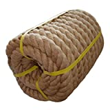 Twisted Manila Rope Jute Rope (1.5 in x 50 ft) Natural Thick Hemp Rope for Boat Deck, Railings, Climbing, Decorating