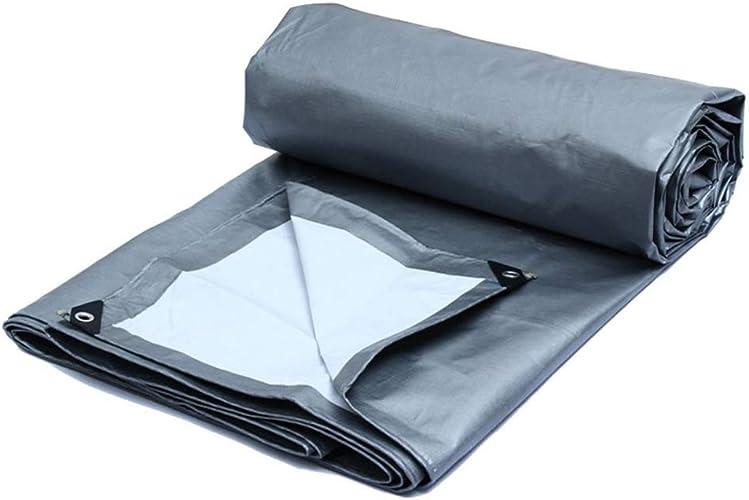 DJSMpb Baches Bache imperméable de PE avec la Feuille de bache de Prougeection Solaire d'oeillets Ombre extérieure imperméable de Tissu de Hangar (Taille   6mx4m)