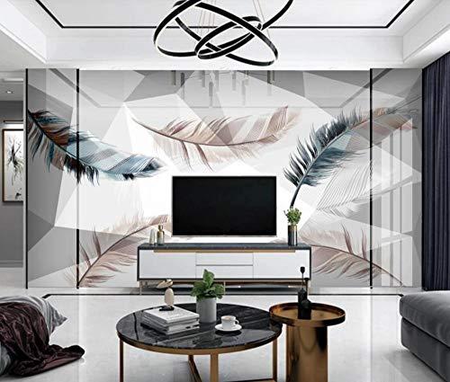 Fototapete 3D Effekt Ausgefallene Federn Moderne Wandtapete Wohnzimmer Dekoration Tapete