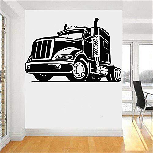 Auto muursticker vrachtwagen garage jongen kamer huisdecoratie auto machine vinyl muurtattoo koelkast tegel decor kunst muurschildering 50.4x33.6cm