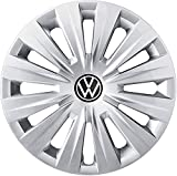 Volkswagen 5H0071455YTI Radkappen (4 Stück) Radzierblende Radvollblende 15 Zoll Stahlfelgen, Silber
