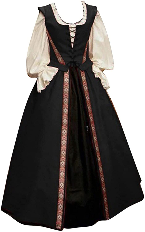 Overseas parallel import regular item BRKEWI Womens Halloween 2021 spring and summer new Cosplay Costume 2 Renaissance Piece Pala