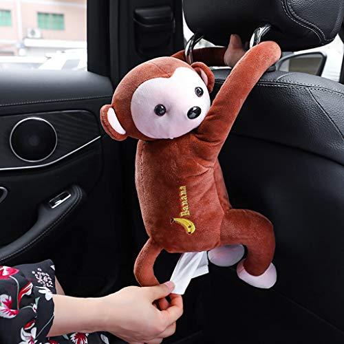 Car Monkey Tissue Dispenser Holder Animal Monkey Butt Tissue Holder Box Hanging Napkin Paper Holder Towels Storage for Car Home Bathroom Accessories