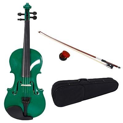 Lovinland 4/4 Acoustic Violin Green Beginner Vi...