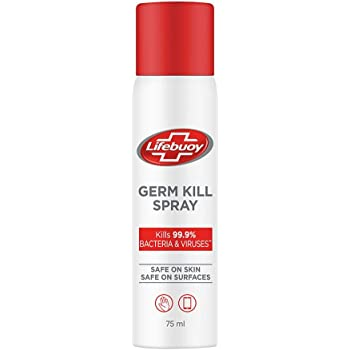 Lifebuoy Antibacterial Germ Kill Spray (No Gas) – Safe on Skin, Safe on Surfaces, 75ml