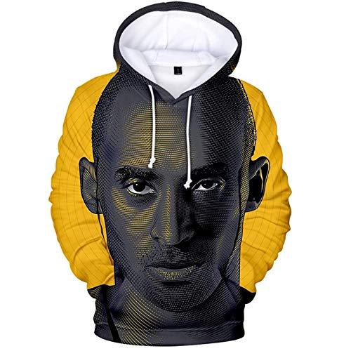 ZLZNX Mens Hoodie NBA Lakers Kobe Bryant Black Mamba Pullover Hoodie Comfortable Long Sleeves Warm Sweatshirt with Drawstring,D,S