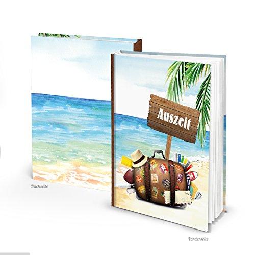 Logboek-uitgeverij reisdagboek dagboek dagboek leeg notitieboek om zelf te schrijven, DIN A5 geschenk vakantie reis buitenlandjaar buitenlandmester herinneringsalbum