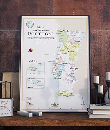 Mapa de los vinos de Portugal