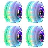 4 ruedas LED brillantes para patinaje de cuatro ruedas, 5 colores disponibles, accesorios para patinaje con ruedas, ruedas luminosas, ruedas ajustables para patinaje con ruedas.