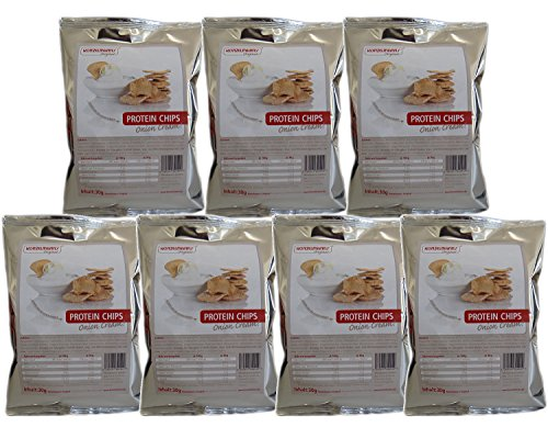 Konzelmann's Original - Protein Chips Onion Cream - 7 x 30g