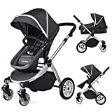 Infant Bassinet Hot Mom 2 in 1 Toddler Stroller Seat and Bassinet Combo,New PU...