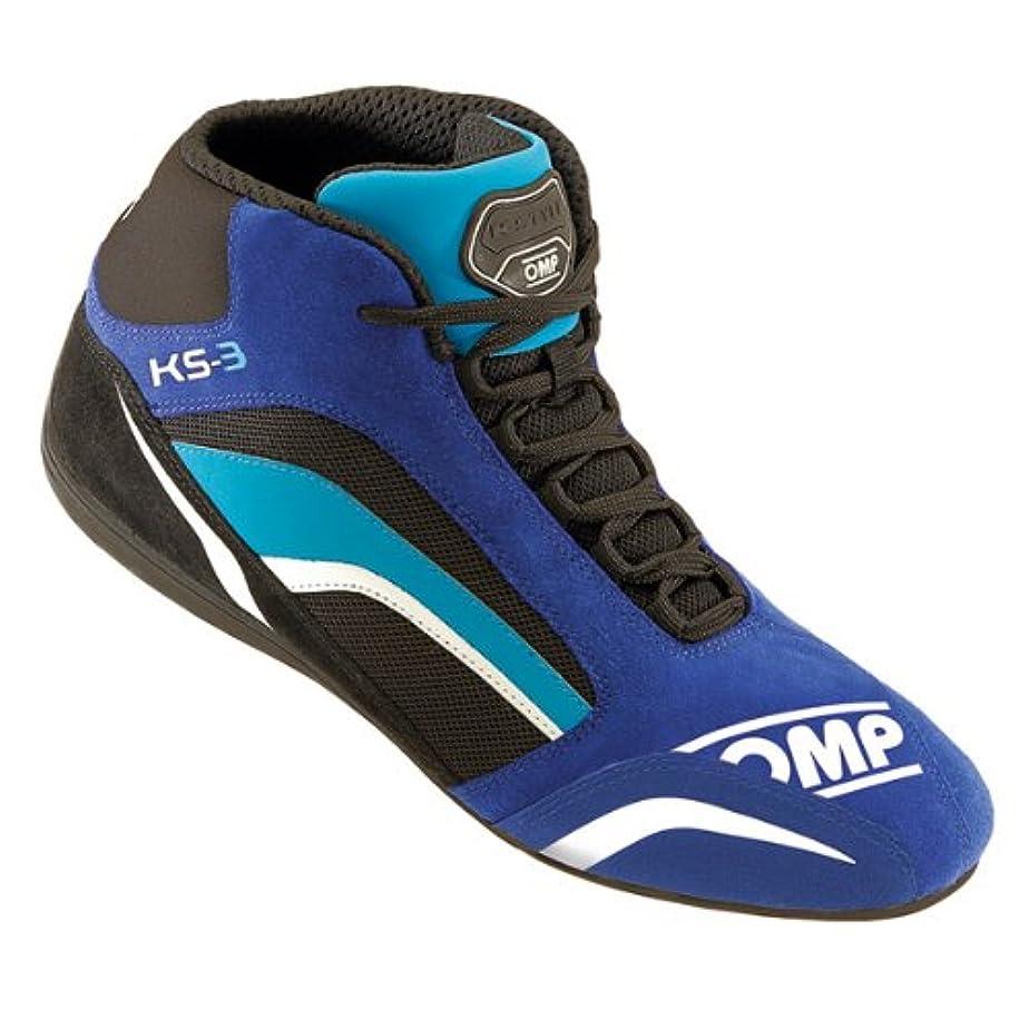 スツールスポーツの試合を担当している人ブラシOMP KS-3 ブルー BLUE 41サイズ レーシングカート用シューズ
