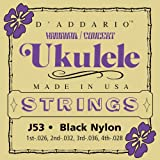 D'Addario J53 - Juego de cuerdas para dulcémele, oud, ukelele de concierto de nylon