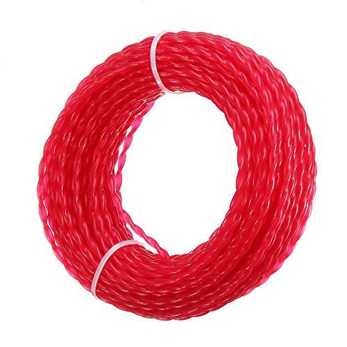 YLJR Carrete de Repuesto Nylon Hilo De Corte 5m x 0.3cm Cuerda Rollo Cuerda del Cable de Alambre de Cuerda Hierba Strimmer Herramienta de siega (Color : Red, Size : 5m)