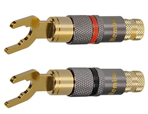 Rembus High End Kabelschuhe   vergoldet   4 Stück   KS-216