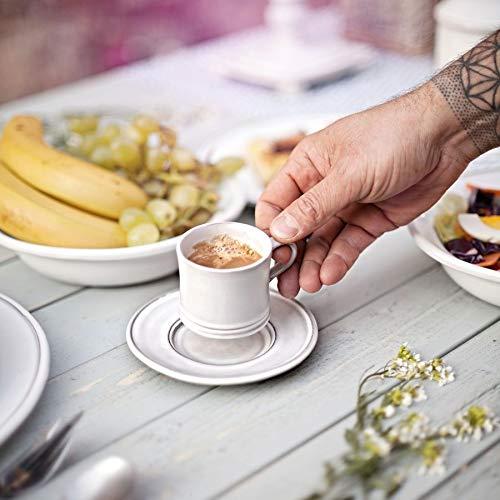 Hangefertigte Espresso Tasse mit Untertasse aus Keramik