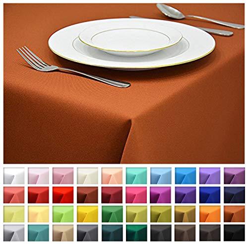 Rollmayer Tischdecke Tischtuch Tischläufer Tischwäsche Gastronomie Kollektion Vivid (Terakotta 7, 80x80cm) Uni einfarbig pflegeleicht waschbar 40 Farben