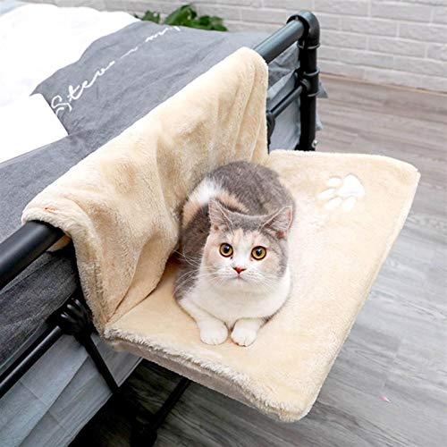 DHGTEP Cama para Gato Alféizar de Ventana Desmontable Hamacas para Gato Cama Colgante Cama de Transporte Acogedora Hamaca para Gato (Color : Beige, Size : 46x30x25CM)