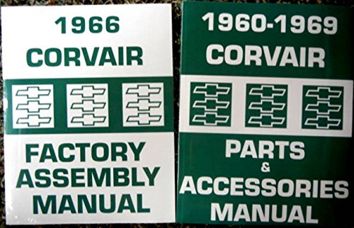 2pc Set Of 1966 CORVAIR FACTORY ASSEMBLY INSTRUCTION MANUAL & COMPLETE PARTS And ACCESSORIES MANUAL...