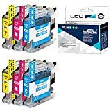 LCL Cartucho de Tinta Compatible LC225 LC225XL LC225XLC LC225XLM LC225XLY (2Cian 2Magenta 2Yellow) Reemplazo para Brother MFC-J4420DW/J4620DW/J4625DW DCP-J4120DW