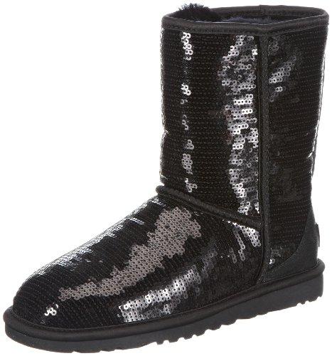 Big Sale UGG Australia Women's Classic Short Sparkles Boots Black Size 8