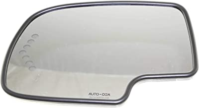 Kool Vue CV49GL-S Mirror Glass for Chevy Silverado/Sierra 99-07 Left Heated W/Auto-Dim Backing Plate and Signal Light All Cab Types