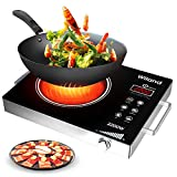 Portable Induction Cooktop induction stove Countertop Burner, 2200 W 120-Volts Induction Cooker with Timer...
