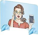 TheBigThings Écran de Protection - plexiglas pour Bureaux - Protection plexiglass de Haute qualité - cloison de Separation en Plaque de plexiglass Transparent (80x60 Centimeters)