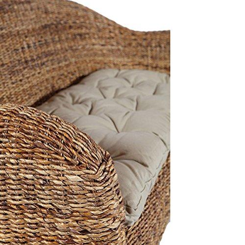 Rotin Design Rattansofa AZUR – Korbsofa – inkl. Sitzpolster – Massivholzfüße – Braun - 4