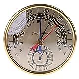 JumpXL 5' Mínimo Máximo Dial Termómetro Higrómetro Montaje En Pared Colgante Analógico Temperatura Humedad Interior Exterior para El Hogar Pantalla De Lectura Fácil