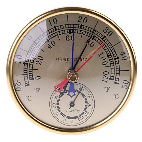 """Yunso 5\""""Min Max Thermometer Hygrometer Wandhalterung Analog Temperatur Luftfeuchtigkeit"""