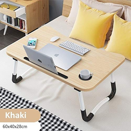 FFDGHB Home Faltbarer Laptop-Schreibtisch FüR Bett Und Sofa Tragbarer Schreibtisch Schoß Schreibtisch FüR Lern- Und Lesebett