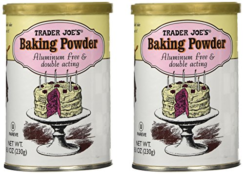 Trader Joe's Baking Powder Double Acting 8.1 Oz (Pack of 2)