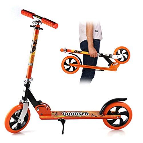 Patinete Cimiva Patinete pegable Carga 100KG Altura 107cm, color naranja